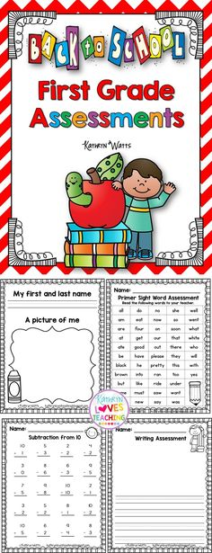 Back to School Assessments (First Grade) First Grade Back to School Assessments! The post Back to School Assessments (First Grade) appeared first on School Diy. First Grade Assessment, Math Assessment, Teaching First Grade, First Grade Reading, First Grade Classroom, 1st Grade Math, Student Teaching, Teaching Ideas, Beginning Of The School Year