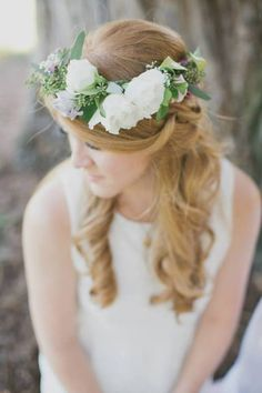 rustic flower halo - the bloom of time