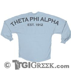 TGI Greek - Theta Phi Alpha - Sorority PR - Greek T-shirt - Spirit Jersey #tgigreek #thetaphialpha #spiritjersey