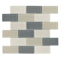 Jeffrey Court, 11 in. x 11.5 in. Rocky Canyon Glass Mosaic Tile, 99430 at The Home Depot - Mobile