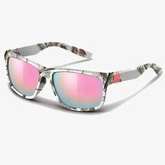 57a9655063 Realtree AP Snow Camo Wayfarer Sunglasses with Pink Mirror Lens