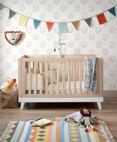 Inspired by contemporary Scandinavian design, this convertible cot/toddler bed will grow with your little one, making it a bold and stylish addition to your nursery. Part of our Lawson range, the cot/toddler bed is a bold, playful piece with a minima Baby Boy Bedding, Cot Bedding, Baby Boy Rooms, Baby Boy Nurseries, Cot Bed Sheets, Cot Bed Mattress, Nursery Furniture Sets, Nursery Decor, Nursery Ideas