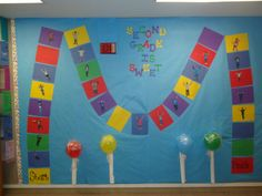 CandyLand Themed bulletin board. I used it during the month of February.