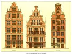 Elevations of Dutch houses of the 16th and 17th centuries