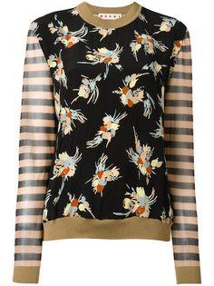 Marni Suéter floral e listrado