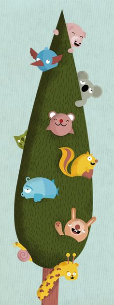Best Friends Tree - Available as a growth chart on Etsy: http://www.etsy.com/listing/106597846/animal-print-growth-chart-cm-best