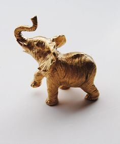 party animal  Gold Table Top Elephant by WhiteFauxTaxidermy, $14.99