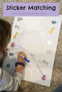matching stickers activity for kids