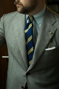 ethandesu: Cotton and Silk Repp Stripes Drake's London for The Armoury Mens Dress Outfits, Men Dress, Suit Fashion, Mens Fashion, Drake London, Style Matters, Little Boy Outfits, Suit And Tie, Gentleman Style