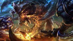 Garen Rengar vs Baron Fighting League of Legends 1920x1080