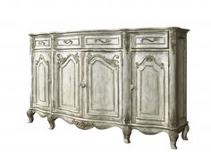 Wyman Credenza Buffet in Weathered Light Wood White Wash | Pulaski | Home Gallery Stores