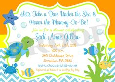 NEW DIY PRINTABLE Under the Sea Invitation for Boys by ciaobambino
