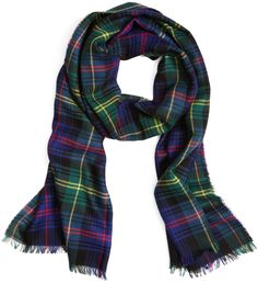 Navy and Green Plaid Scarf by Brooks Brothers. Buy for $138 from Brooks Brothers