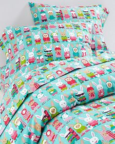 Snow Bunnies Flannel Bedding - on sale!