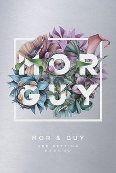 Mor & Guy wedding invitation (Designspiration)