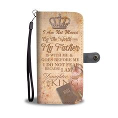 This daughter of the King wallet phone case is a perfect christmas gift for your friends, family and your loved one! I am not moved by the world for my Father is with me and goes before me. I do not fear because I am a Daughter of the King. Family Bible Verses, Bible Verses About Strength, Bible Verses About Love, Encouraging Bible Verses, Inspirational Verses, Prayer Verses, Prayer Quotes, Bible Verses Quotes, Quotes About God