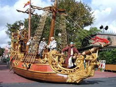 Image result for pirate ship parade float