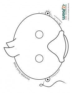 Make Way For Ducklings Printable Classroom Activities Role Play Mask Coloring Page Jr