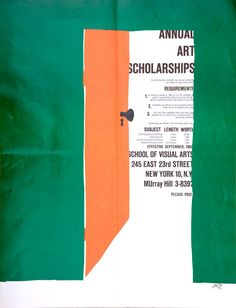 Bob Gill – School of Visual Arts poster, 1960 I feel arrangement through his work. Also I am focusing on inside of room when I see the work.