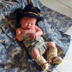 Military boots spurs baby military hat and by babypropsbyconnie