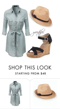 """A Walk in the Park"" by yviestyle ❤ liked on Polyvore featuring LE3NO, Talbots and TOMS"