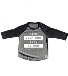 Toddler Baseball Tee Triblend Have Your Mom Text My Mom Hipster Funny T shirt by BirchBearCo on Etsy