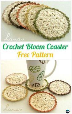 Crochet Puff Coasters Free Pattern - Crochet Coasters Free Patterns