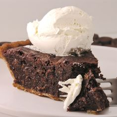 German ChocolatePie// INGREDIENTS:     1 8-ounce package Baker's semi-sweet chocolate  1/4 cup butter or margarine  1 13-ounce can sweetened condensed milk  1-1/3 cups  shredded coconut  3 eggs, slightly beaten  1/2 cup sugar  1 9-inch unbaked pie shell (you'll need a deep-dish)  whipped cream or ice cream (optional, but this is so rich, you'll need it)