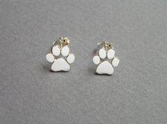 Paw impresión pendientes  pendientes Plata  gatos y perros