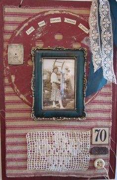 Assemblage Collage Book Cover Art...Amour of Mine