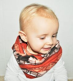 Baby/Toddler infinity scarf horse scarf soft baby scarf by RYLOwear