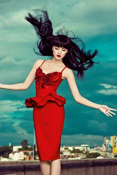 Here's a Throwback to One of Kim Chiu's Most Memorable Cover Shoots Modern Photography, Style Guides, How To Memorize Things, Short Dresses, Celebs, Glamour, Actresses, Photoshoot Style, Color