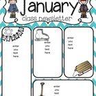 january newsletter template