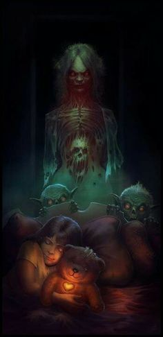 Submission for the Mama contest. Since I was a kid creepy old women have always creeped me the hell out. Still some of my favorite horror movies to watch, looking forward to checking out Mama in th. Arte Horror, Horror Art, Horror Movies, The Crow, Vampires, Art Zombie, Monster Under The Bed, Look Dark, Dark Artwork