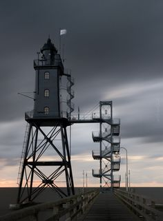Leuchtturm Obereversand Lighthouse~North Sea~Lower Saxony~Germany
