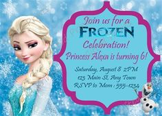 Birthday Invitation • Frozen Theme • Free economy shipping • Fast turnaround time • Great customer service • These birthday invitations are custom, high resolution digital files that are personalized for each customer upon order