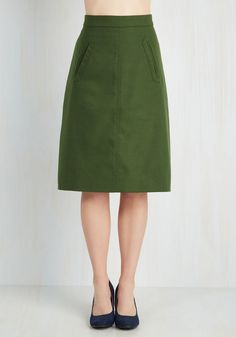 Aptitude for Anthropology Skirt in Forest Green