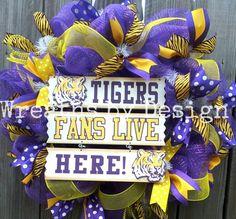 LSU WREATH !! Wreaths by Design onFB