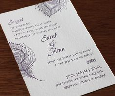 An invitation to the Sangeet party for this incredible Indian wedding with a peacock themed stationery set. Parikha | Invitations by Ajalon | www.invitationsbyajalon.com