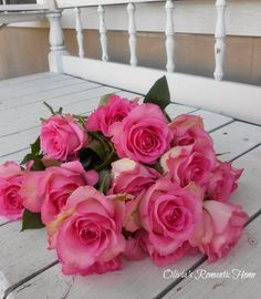 Gorgeous roses--I can almost smell them! from Olivia's Romantic Home