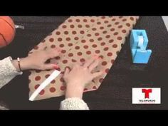 How to make a gift bag out of wrapping paper for odd shaped gifts - YouTube