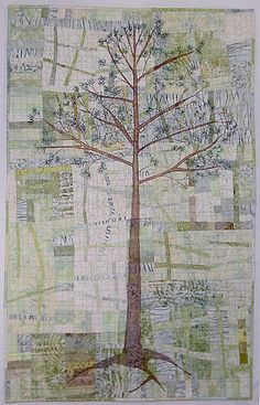 "For 4 Who Stood Tall, 40 x 25"", art quilt by Kathie Briggs"