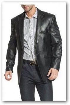 aed179262063 Leather Suit. Bob Ferand · Men s Leather Suits · Fashion Men s Leather  Blazer ...