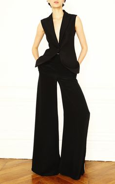 Contrast Piping Wide Leg Pants by MARTIN GRANT for Preorder on Moda Operandi