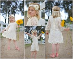 Jamie this is the dress that could go under a skirt. Champagne Ivory Lace Flower Girl Dress Lace by MaidenLaneBoutique