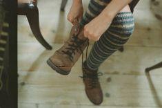 thejitteryknitter:  hellanne:  young socks (by half...