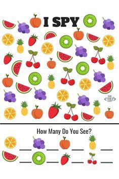 Free Summer Fruit Preschool Worksheets
