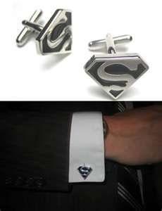 superman cufflinks for one groomsman