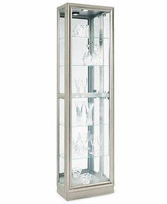 platinum curio cabinet antique pulaski apothecary style