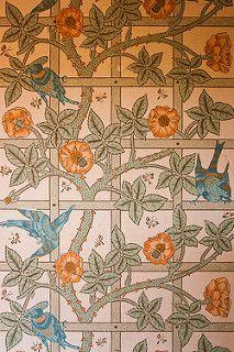 William Morris Trellis Wallpaper - Standen (11)   by Malcolm Bull